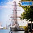 The tallship Eagle at West India Quay — Stock Photo