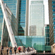 Stock Photo: West IndiQuay footbridge, Canary Wharf
