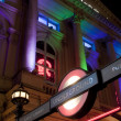 Piccadilly Circus underground station entrance at night — Stock Photo #10464540