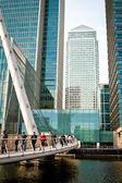 West India Quay footbridge, Canary Wharf — Stock Photo