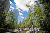 Jubilee Park at Canary Wharf, Docklands, London. Landscape — Stock Photo