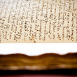 Latin manuscript — Stock Photo