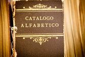 Starý katalog knihovny — Stock fotografie