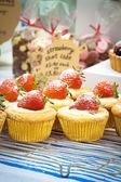 Strawberry cupcake — Stock Photo