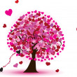 Hearts tree — Stockvectorbeeld