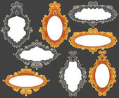 Set of baroque frames — Stock Vector