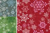 Set of seamless snowflakes — Stock Vector