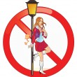 Stock Vector: No Prostitution Sign
