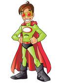 Green Superhero — Stock Vector