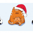 Three Christmas cats — Stockvectorbeeld