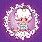 Sugar fairy princess portrait – series 1/ 4 — Stock Vector