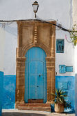 Front door in an entry house in Rabat, Morocco — Stock Photo