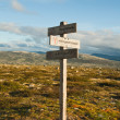 Guide sign in mountains — Stock Photo #10280146