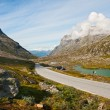 Mountain landscape with road and lake — Stock Photo #10280520