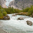 Stock Photo: Glacier Briksdalen