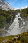 Waterfall Kleivafossen in mountains of Norway — Stok fotoğraf