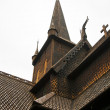 Fragment of Lom Stave Church (stavkyrkje) - Stock Photo