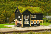 Building of railway station, Norway — Stock Photo