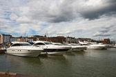 Parking of boats in Helsinki — Stock Photo