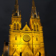 Church at night - Stock Photo