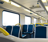 Interior of an empty train — Stock Photo