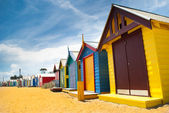 Beach huts in perspective — 图库照片