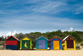 Cabanas de praia — Foto Stock