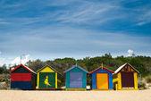 Plážové chatky — Stock fotografie