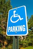 Handicap parkowania — Zdjęcie stockowe