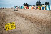 осторожно пляж — Стоковое фото