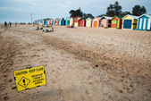 Caution beach — Stock fotografie