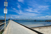 Pier on brighton beach — Stock Photo