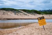 Polluted water sign — Stock Photo