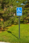 Handicap Parking Sign — Foto Stock
