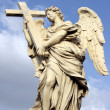 Stock Photo: Angel with cross