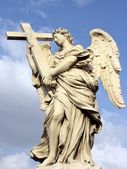 Angel with cross — Stock Photo
