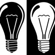 Stock Vector: Light bulb