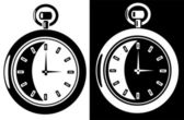 Vintage clock — Stock Vector