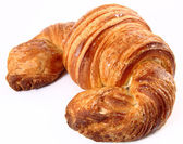 Croissant in a white background — Stock fotografie