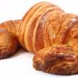 Croissant in a white background — Stock Photo