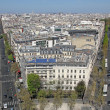 Paris from Arc de Triomphe, France — Stock Photo #10367933