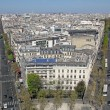Paris from Arc de Triomphe, France — Stock Photo