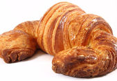 Croissant in a white background — Stok fotoğraf