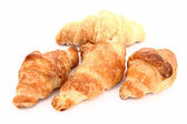 Croissants in a white background — Foto Stock