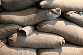 Sandbag wall — Foto Stock