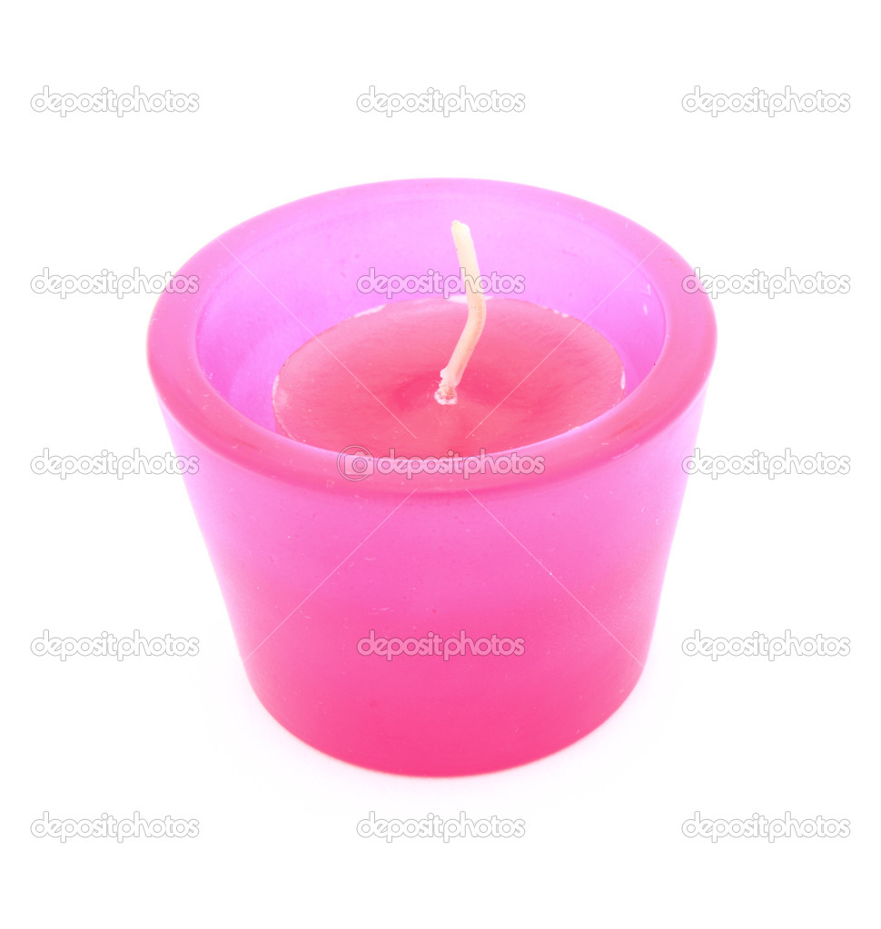 Its a pink candle on a white background. — Stockfoto #10433612