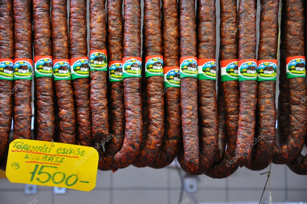 Sausages in Budapest, Hungary — Stock Photo #10721887