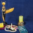 Tarot Reader with Candles — Stock Photo