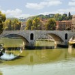 Bridge Over the Tiber River — Stock Photo