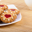 Cookies Valentines And Cup Of Tea — Stock Photo #10275035
